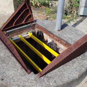Fordiatec trappe anti-chute pour équipement assainissement